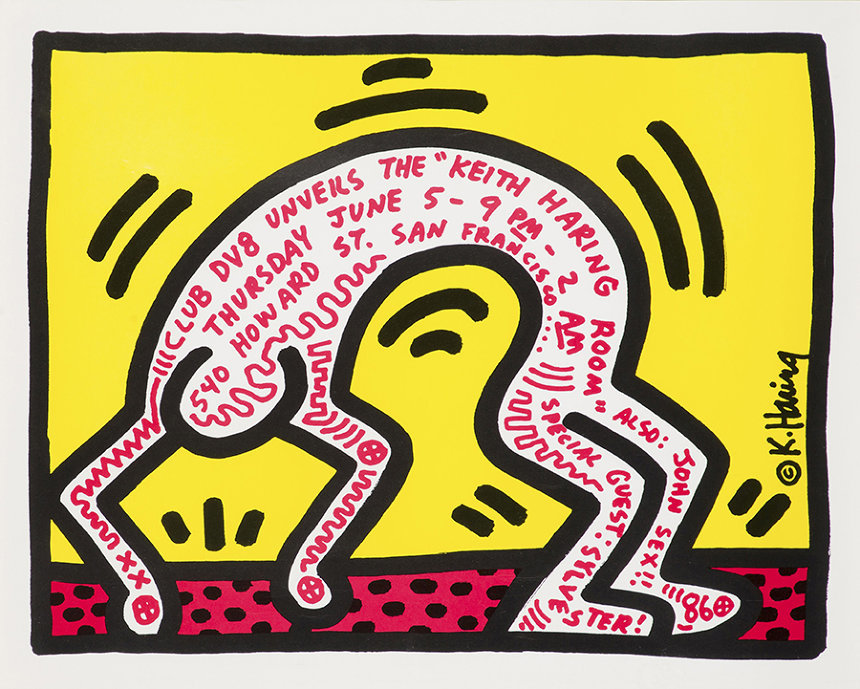 『Club DV8 Unveils the Keith Haring Room』ポスタービジュアル 1986