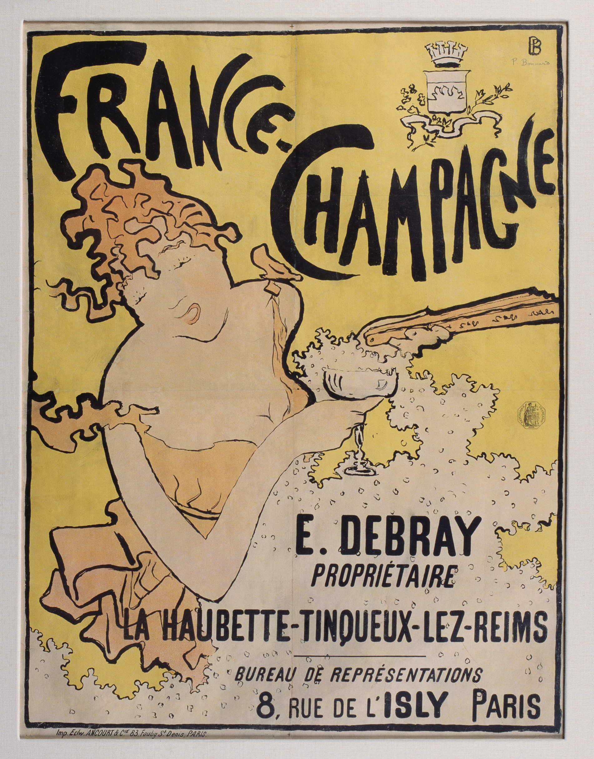 ピエール・ボナール《フランス=シャンパーニュ》1891年 多色刷りリトグラフ 78×50cm  川崎市市民ミュージアム