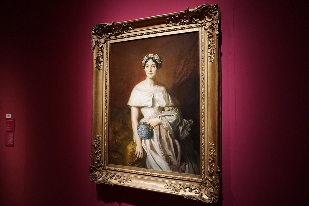 テオドール・シャセリオー <カバリュス嬢の肖像> 1848年 カンペール美術館