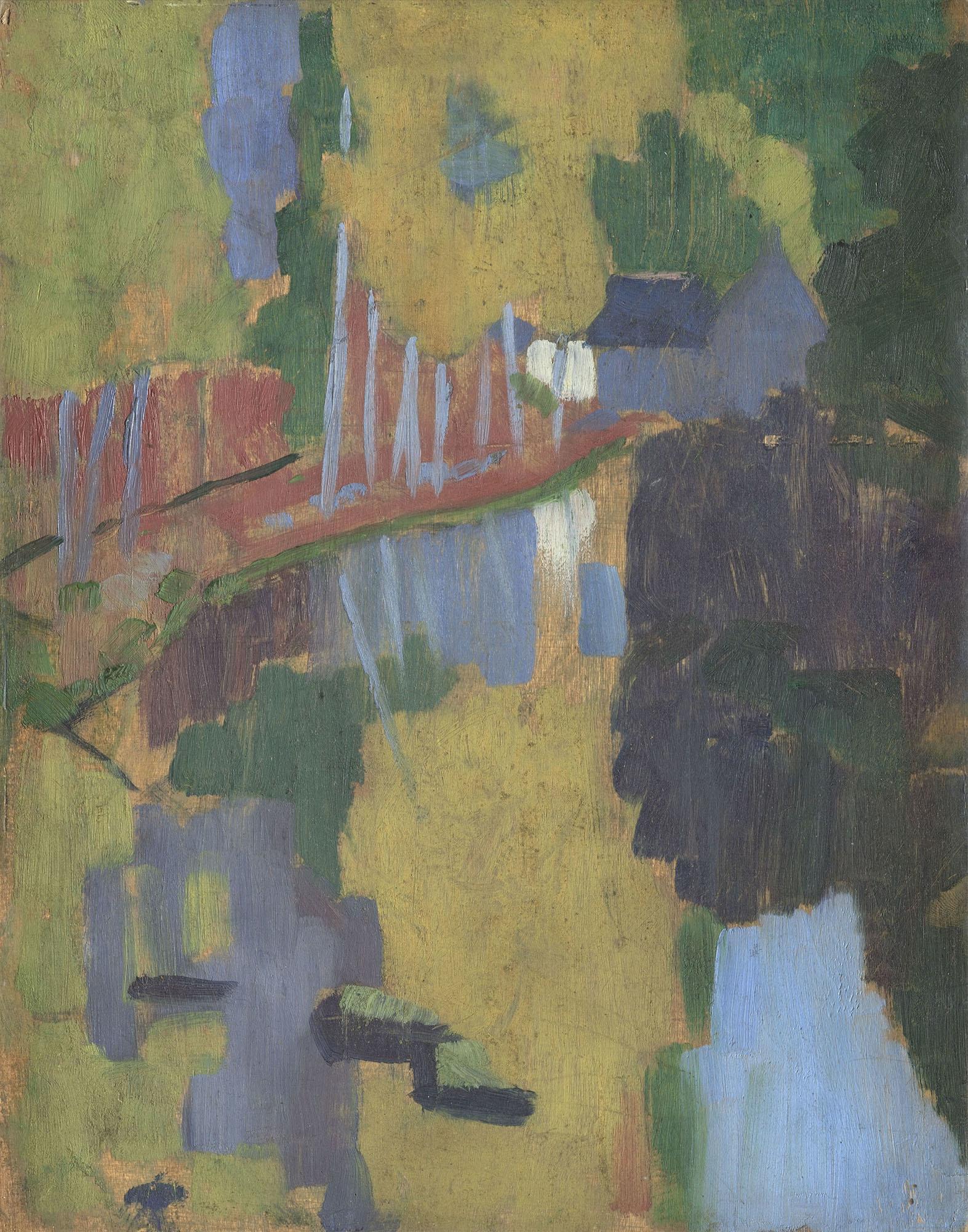 ポール・セリュジエ 《タリスマン(護符)、愛の森を流れるアヴェン川》 1888年 油彩/板 © RMN-Grand Palais (musée d'Orsay) / Hervé Lewandowski / distributed by AMF