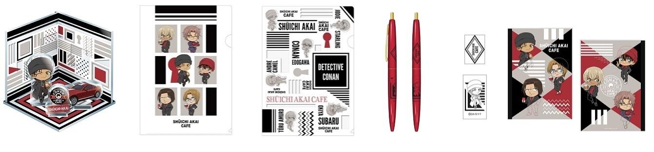 アクリルジオラマ、 クリアファイル 2種、 BICボールペン、 B5ノート
