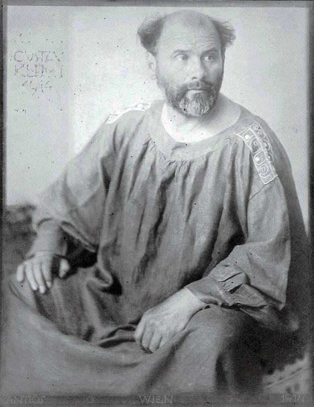 グスタフ・クリムトの肖像写真/Josef Anton Trčka 出典=ウィキメディア・コモンズ (Wikimedia Commons)