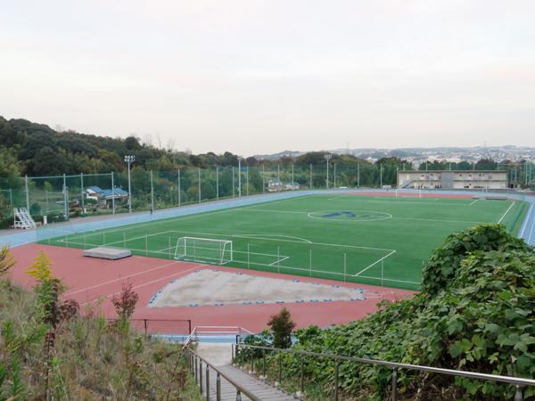 2015年9月に完成した帝京大陸上競技場。トラックには世界選手権などで使用される材質「スーパーX」を採用している