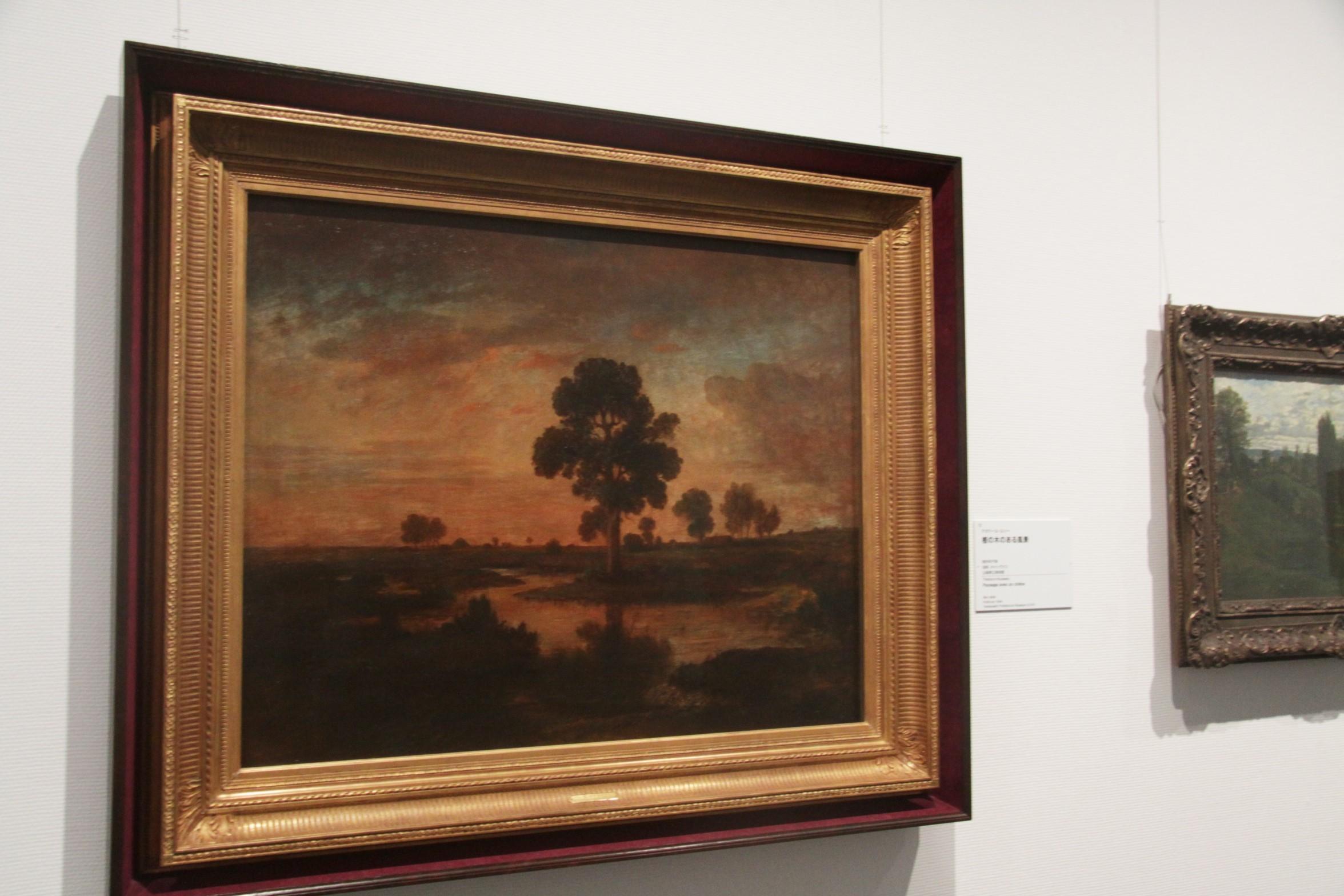 テオドール・ルソー《樫の木のある風景》制作年不詳 山梨県立美術館蔵