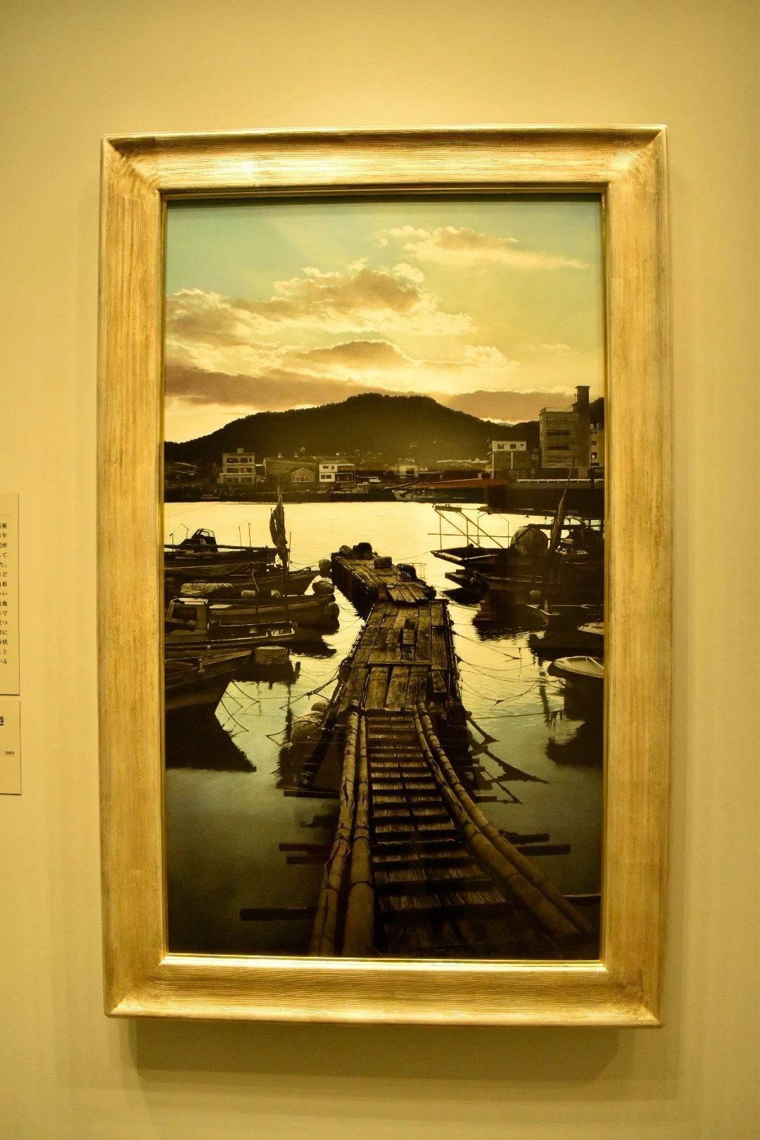 大畑稔浩 《瀬戸内海風景−川尻港》 2003年