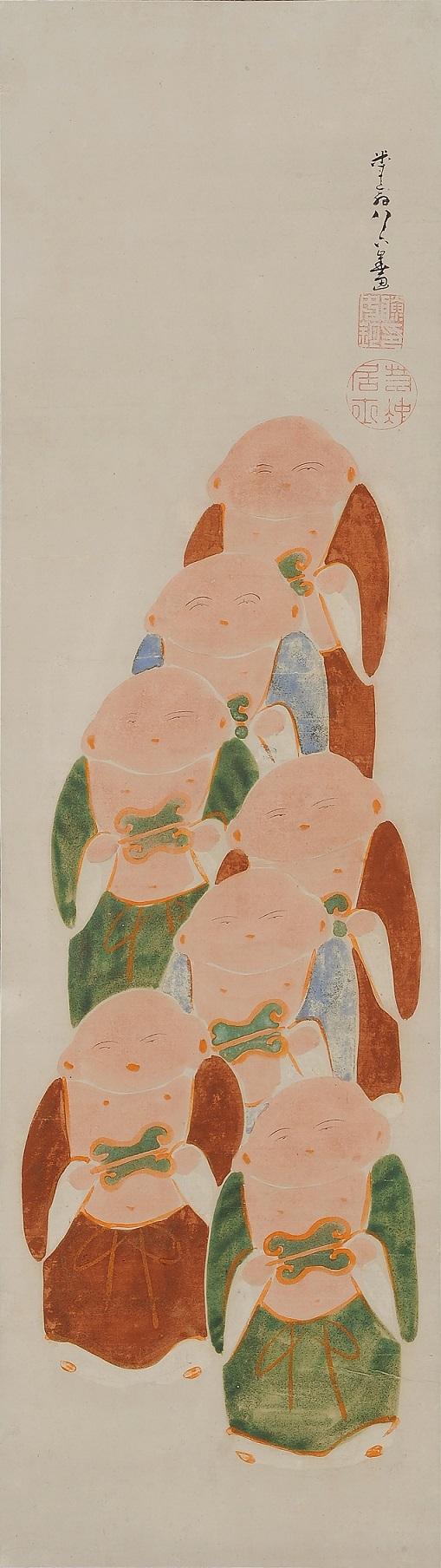 伊藤若冲《伏見人形図》 江戸時代  山種美術館