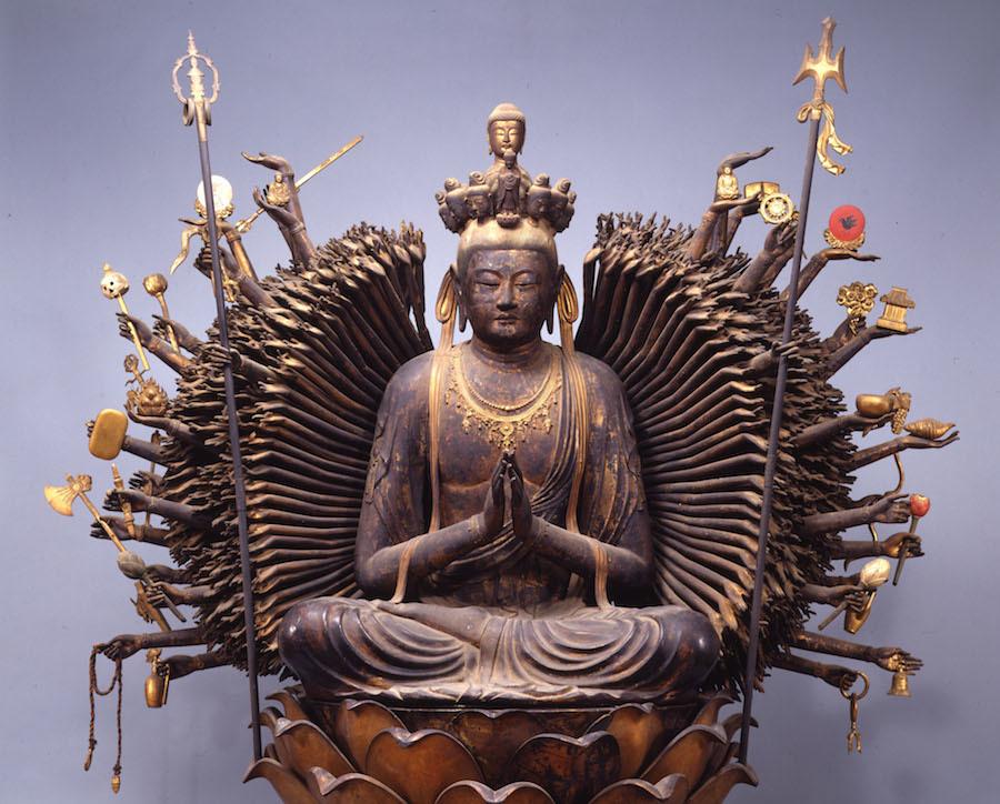 国宝「千手観音菩薩坐像」奈良時代・8世紀 大阪・葛井寺蔵 展示期間:2月14日~3月11日