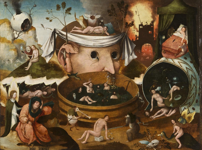 ヒエロニムス・ボス工房《トゥヌグダルスの幻視》  1490-1500年頃 油彩、板 ラサロ・ガルディアーノ財団 © Fundación Lázaro-Galdiano