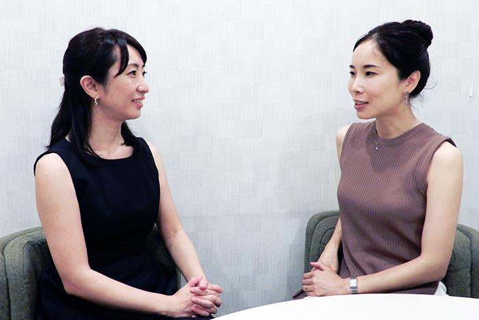 (左より)滝澤志野 蛭崎あゆみ