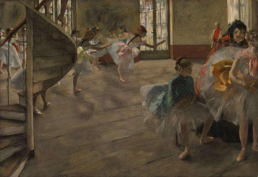 エドガー・ドガ《リハーサル》 1874年頃、油彩・カンヴァス (C) CSG CIC Glasgow Museums Collection