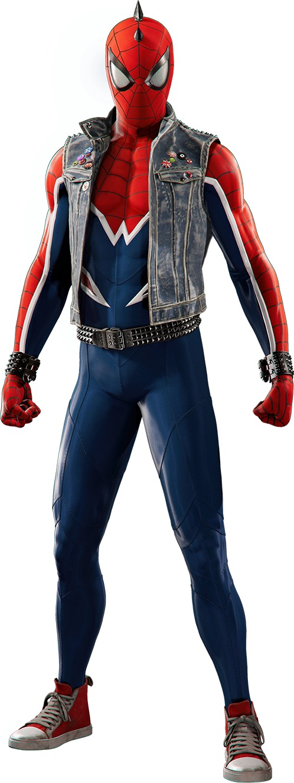 コミックス『スパイダーバース』に登場した別次元のスパイダーマン「スパイダーパンク」