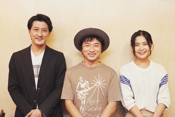 (左から)野村啓介、神波憲人、根矢涼香