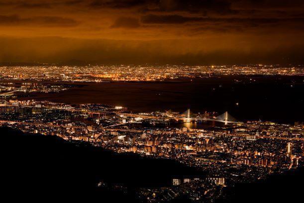 「1,000万ドルの夜景」と称される六甲山からの夜景