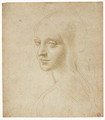 レオナルド・ダ・ヴィンチ『少女の頭部/「岩窟の聖母」の天使のための習作』  1483-85年頃 トリノ王立図書館 ©Torino, Biblioteca Reale
