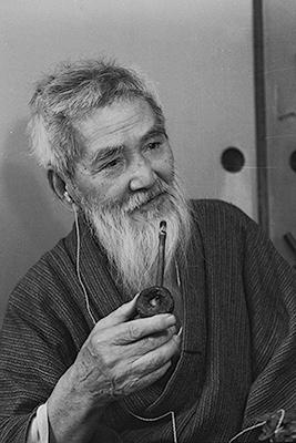 熊谷守一 1971年 (91歳) 撮影:日本経済新聞社