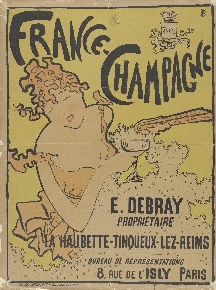 ピエール・ボナール《「フランス=シャンパン」のためのポスター》 1891年 多色刷りリトグラフ アムステルダム、ファン・ゴッホ美術館