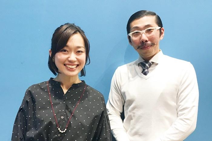 (左から)丹下真寿美、村角太洋。