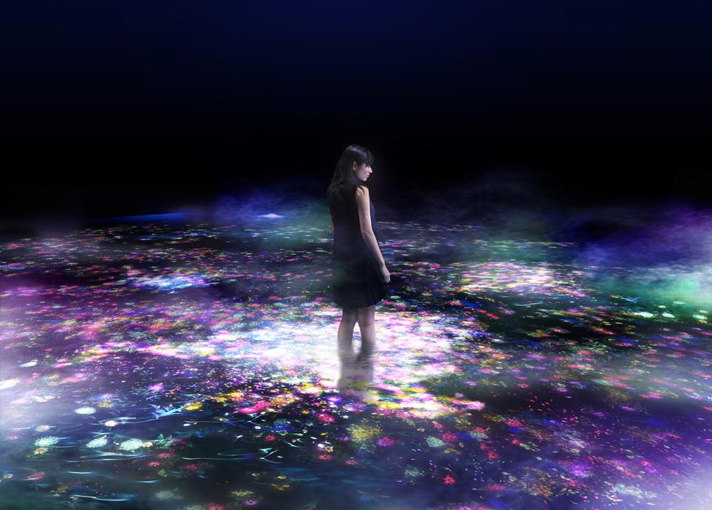 """雪肌精""""ハーバルの泉"""" – ART by teamLab"""