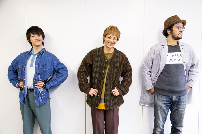 (左から)阿久津仁愛、永田崇人、ウォーリー木下