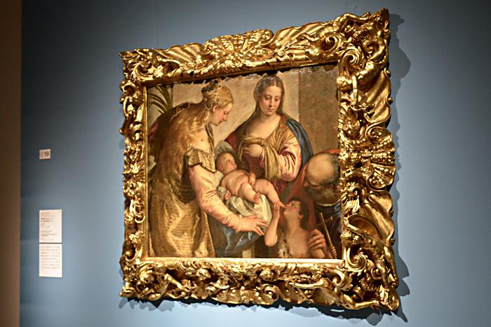 パオロ・ヴェロネーゼ 《聖家族と聖バルバラ、幼い洗礼者聖ヨハネ》1562-65 年、フィレンツェ、ウフィツィ美術館