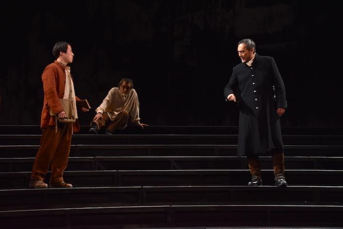 舞台『ピサロ』のゲネプロの様子