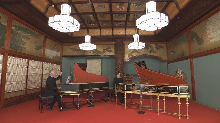 ピエール・アンタイとスキップ・センペの2台チェンバロ演奏会。目黒雅叙園(ホテル雅叙園東京)竹林の間にて