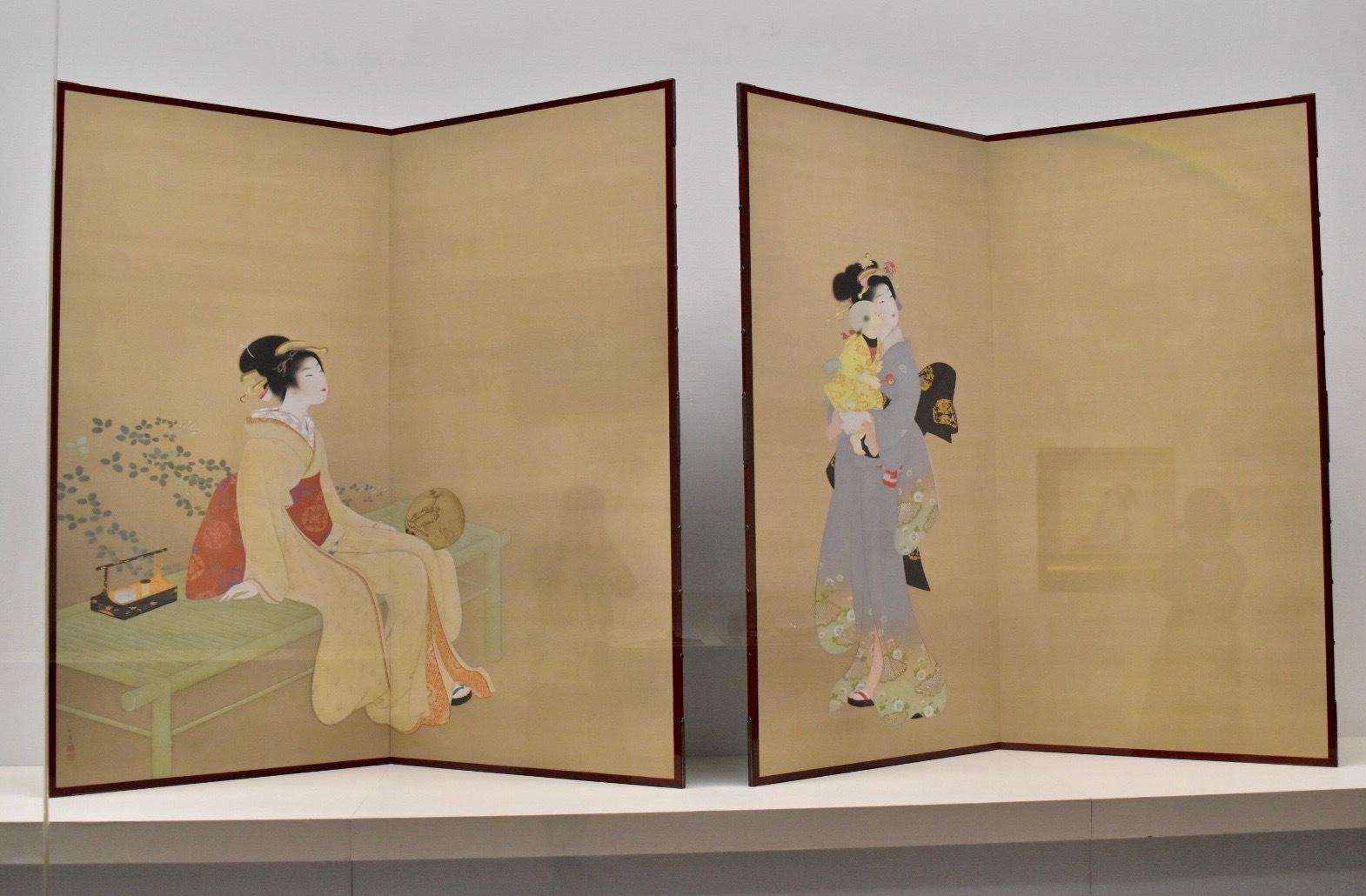 上村松園 《虹を見る》 昭和7年 京都国立近代美術館蔵