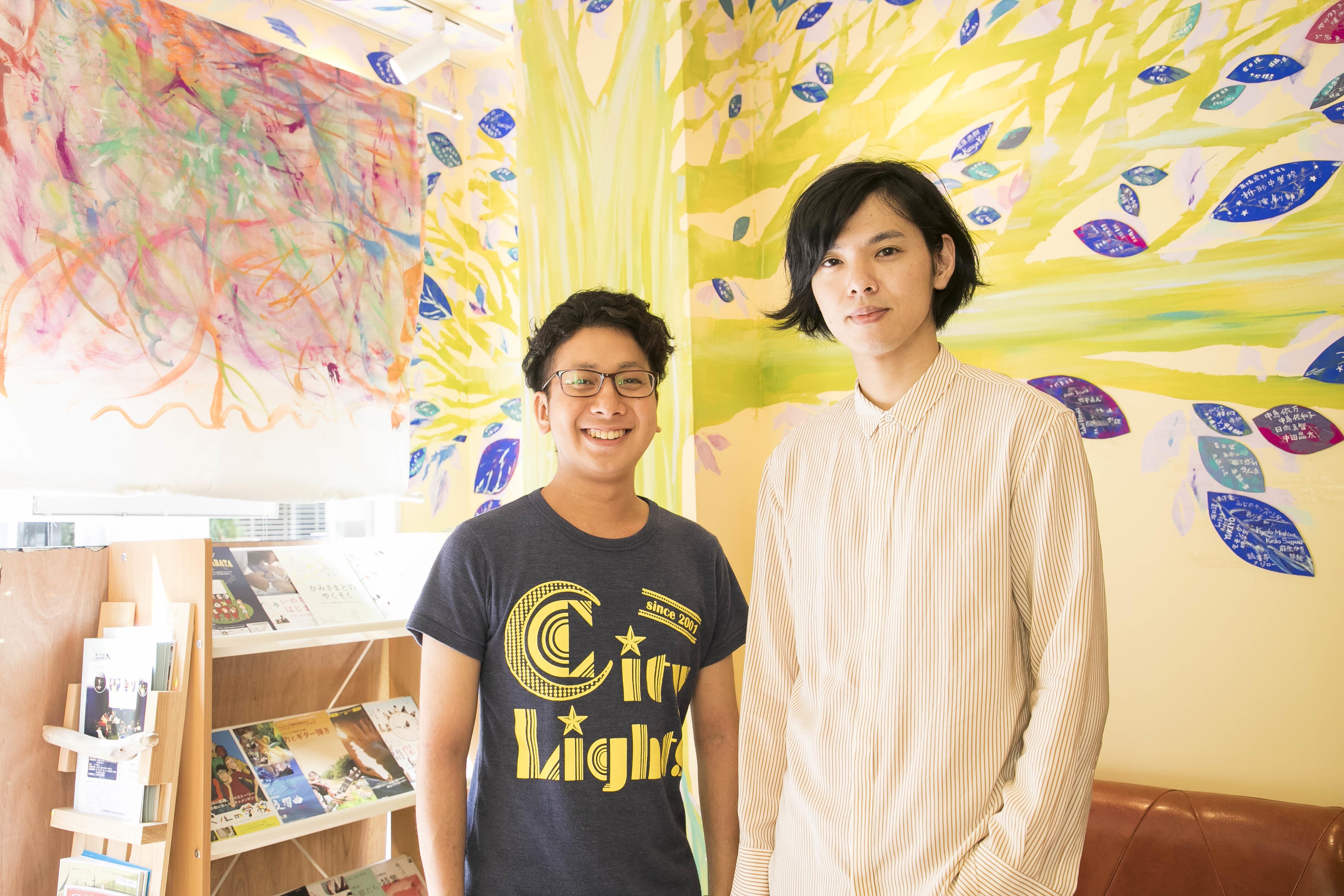 左から、佐藤浩章、タカハシヒョウリ 撮影=高橋定敬