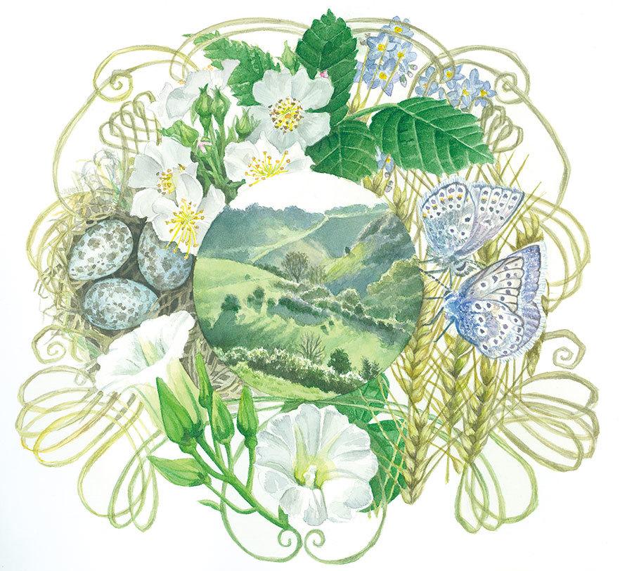 "Freyja Dean ""England's Summer Barley Wreath"" 2017 / 27 × 25cm"