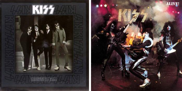 KISS『地獄への接吻』(1975年)、『地獄の狂獣 キッス・ライヴ』(1975年)