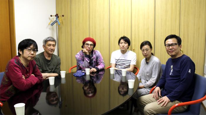 (左から)市川しんぺー、木村靖司、片桐仁、中屋敷法仁、広岡由里子、伊藤正之