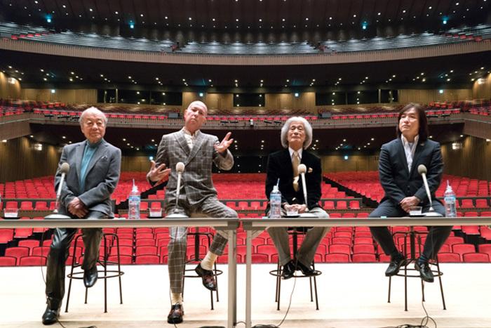 (左より)外山雄三、井上道義、飯守泰次郎、飯森範親(C)森口ミツル