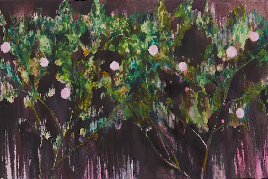 Autumn roses 2017-2018 oil on canvas 130.0 x 194.7 cm (C)Midori Sato