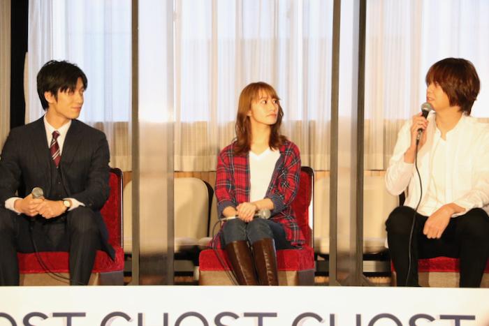 (左から)水田航生、桜井玲香、浦井健治
