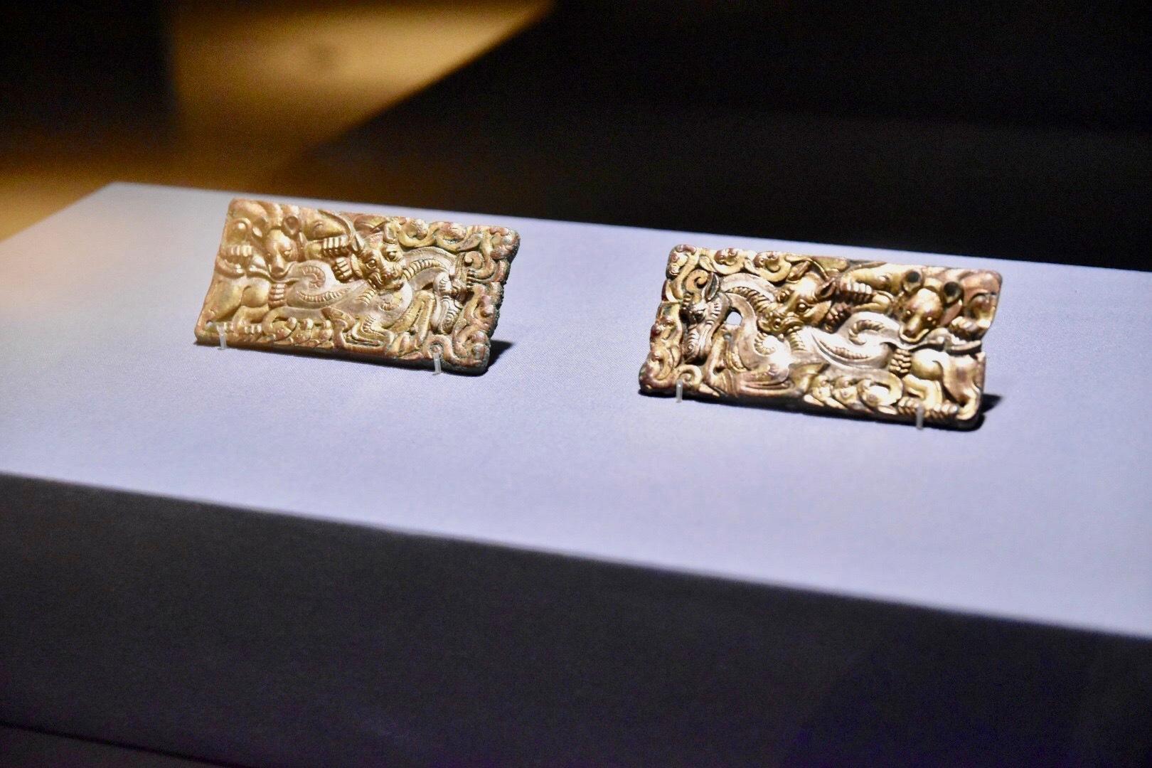 《動物闘争文帯飾板》 中国・前漢時代 前2〜前1世紀 東京国立博物館蔵 通期展示