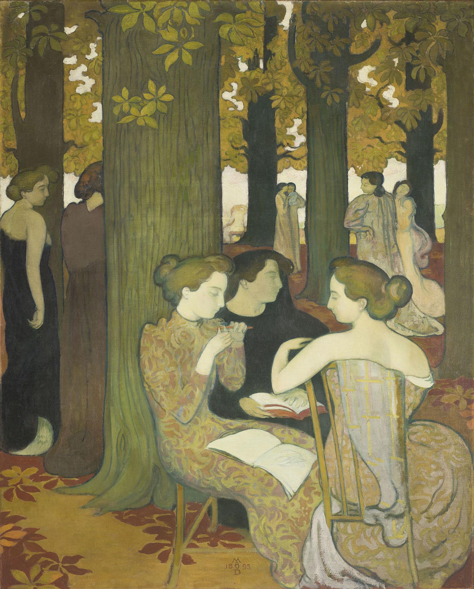モーリス・ドニ 《ミューズたち》 1893年 油彩/カンヴァス © Musée d'Orsay, Dist. RMN-Grand Palais / Patrice Schmidt / distributed by AMF