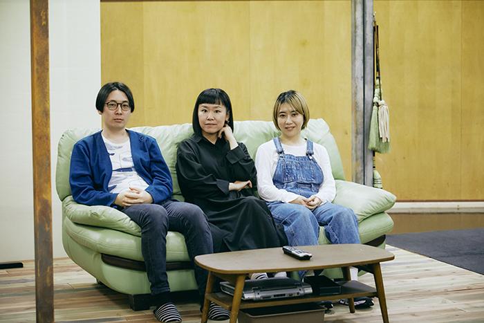 左から池田亮(ゆうめい)、高野ゆらこ、児玉磨利 写真:吉松伸太郎