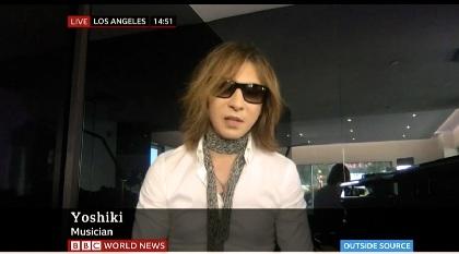 YOSHIKI 英BBCワールドニュースに生出演、「いま一番大切なのは医療に従事している方々を支えること」