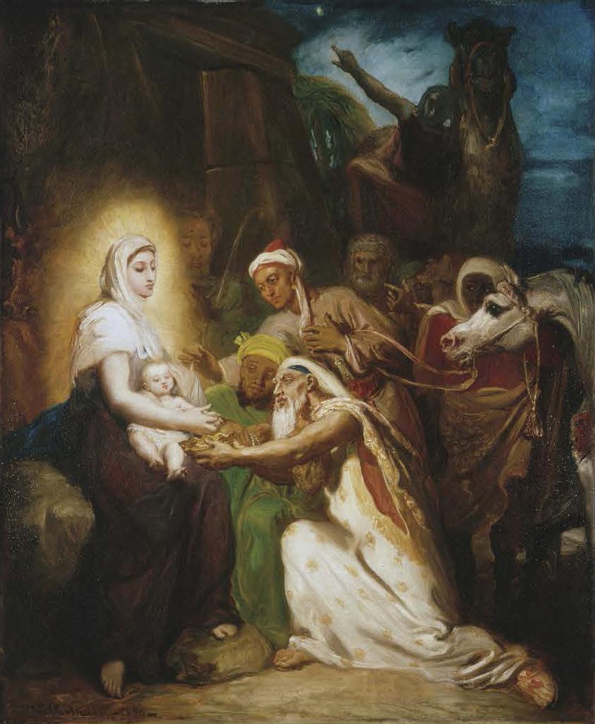 《東方三博士の礼拝》 テオドール・シャセリオー 1856年 プティ・パレ美術館 © Petit Palais/Roger-Viollet