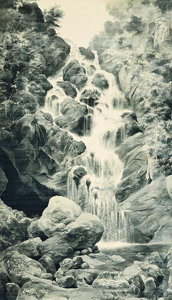 《立石谷》絹本墨画 1897年頃 個人蔵