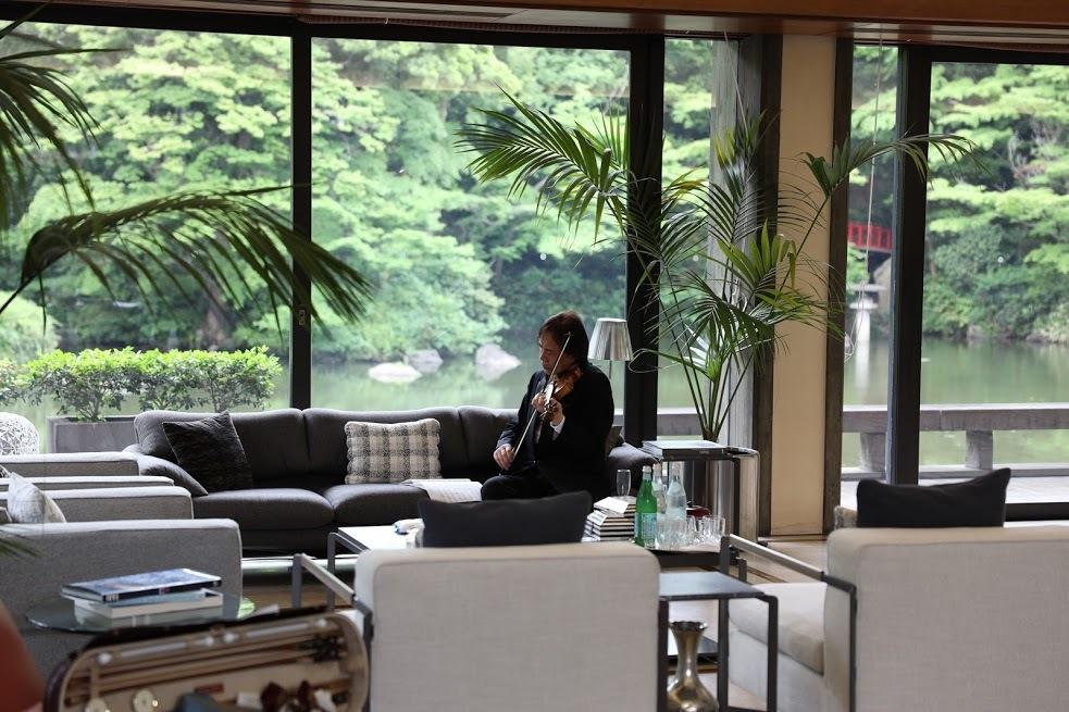 イタリア大使公邸 にて リハーサル (徳永二男