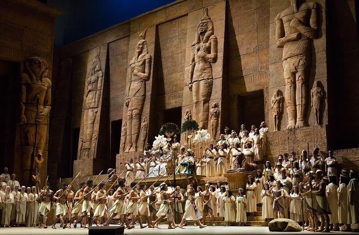 《アイーダ》(c)Marty Sohl/Metropolitan Opera
