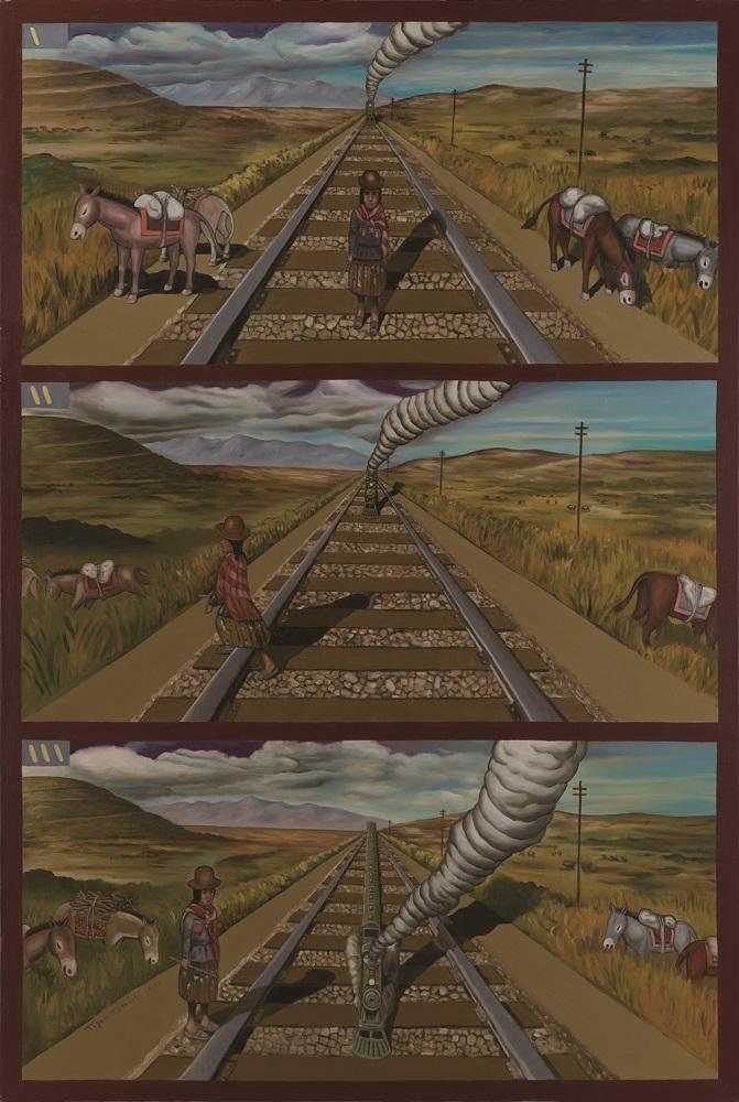 立石大河亞《アンデスの汽車》1997-98年