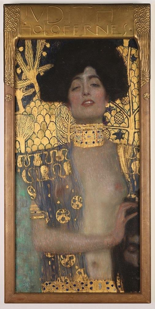 グスタフ・クリムト《ユディトⅠ》  1901年 油彩、カンヴァス 84 x 42 cm
