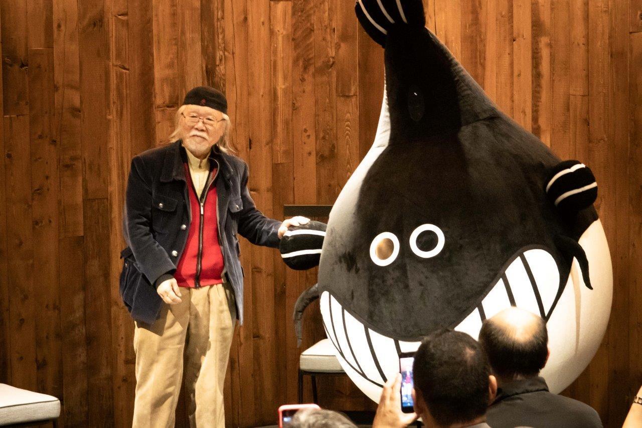 松本零士となまずくん (C)Ryota Mori