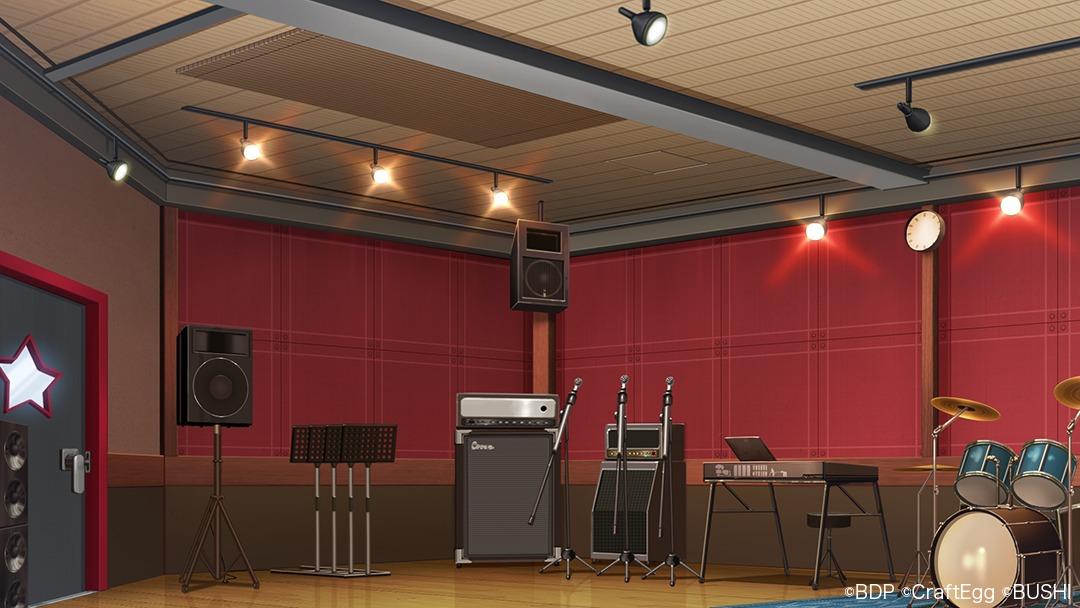 スマートフォン向けゲーム『バンドリ! ガールズバンドパーティ!』ビデオ会議用バーチャル背景画像