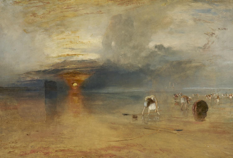 ジョゼフ・マロード・ウィリアム・ターナー《カレの砂浜――引き潮時の餌採り》1830年、 油彩/カンヴァス、68.8×103.8 cm、ベリ美術館  (C) Bury Art Museum, Greater Manchester, UK