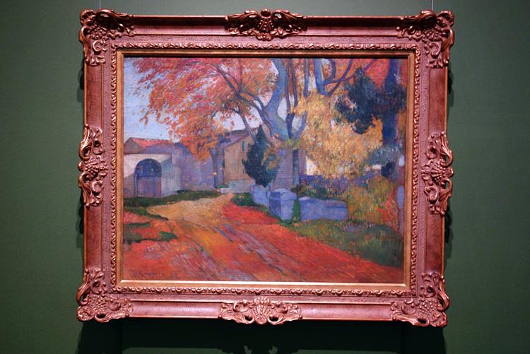 ポール・ゴーギャン《アリスカンの並木路、アルル》1888 油彩・キャンヴァス SOMPO美術館