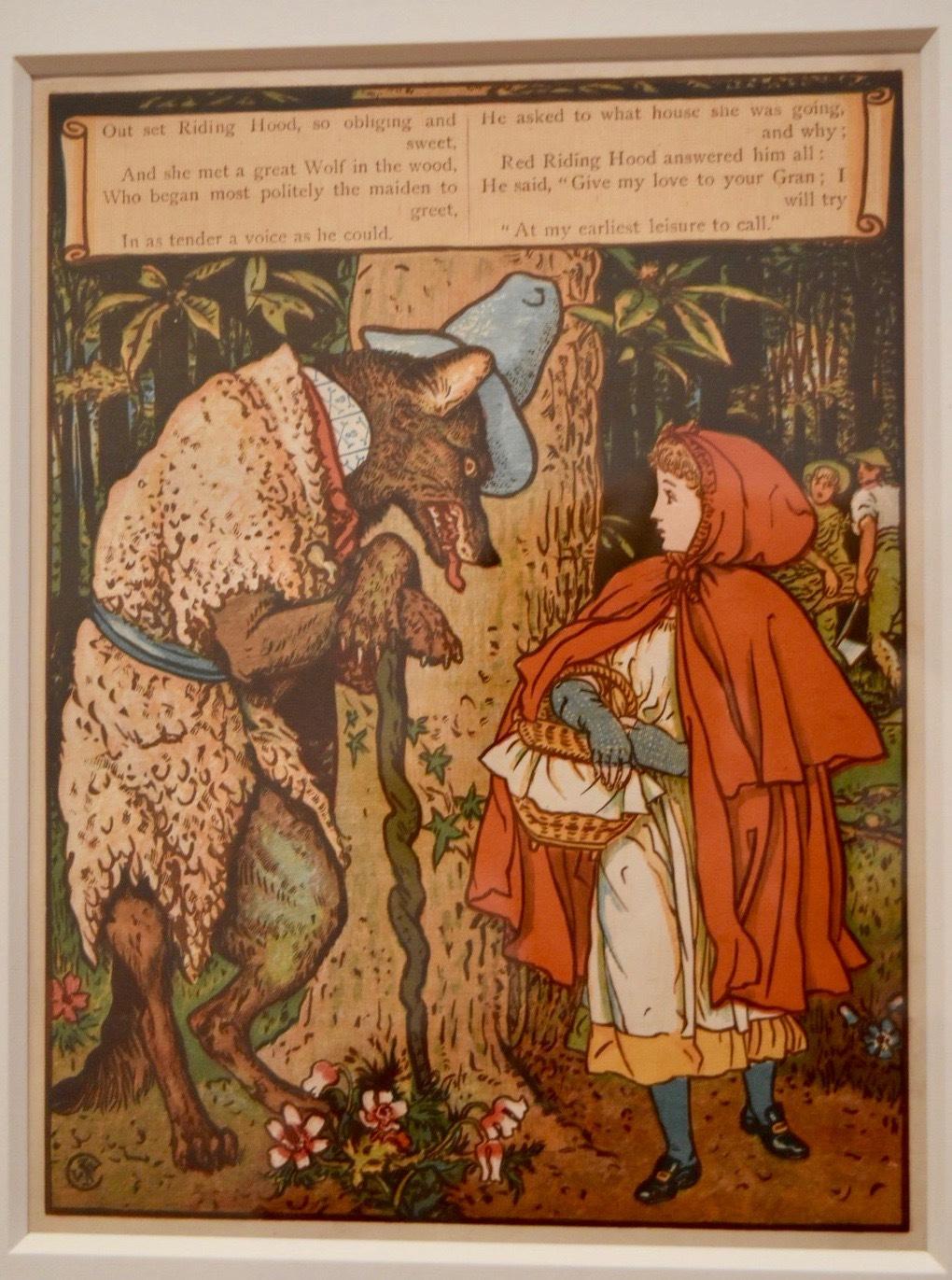 ウォルター・クレイン 《赤頭巾ちゃん》1875年 個人蔵