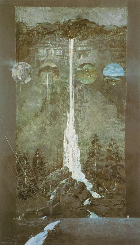 麻田浩《御滝図(兄に)》1990年 油彩・キャンバス 東京オペラシティ アートギャラリー蔵